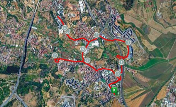 Percurso da corrida de 10km