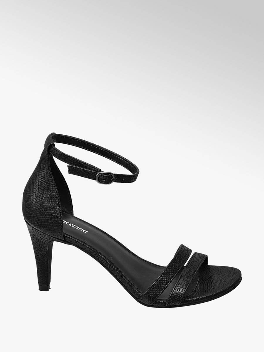 sandálias de salto fino Deichmann