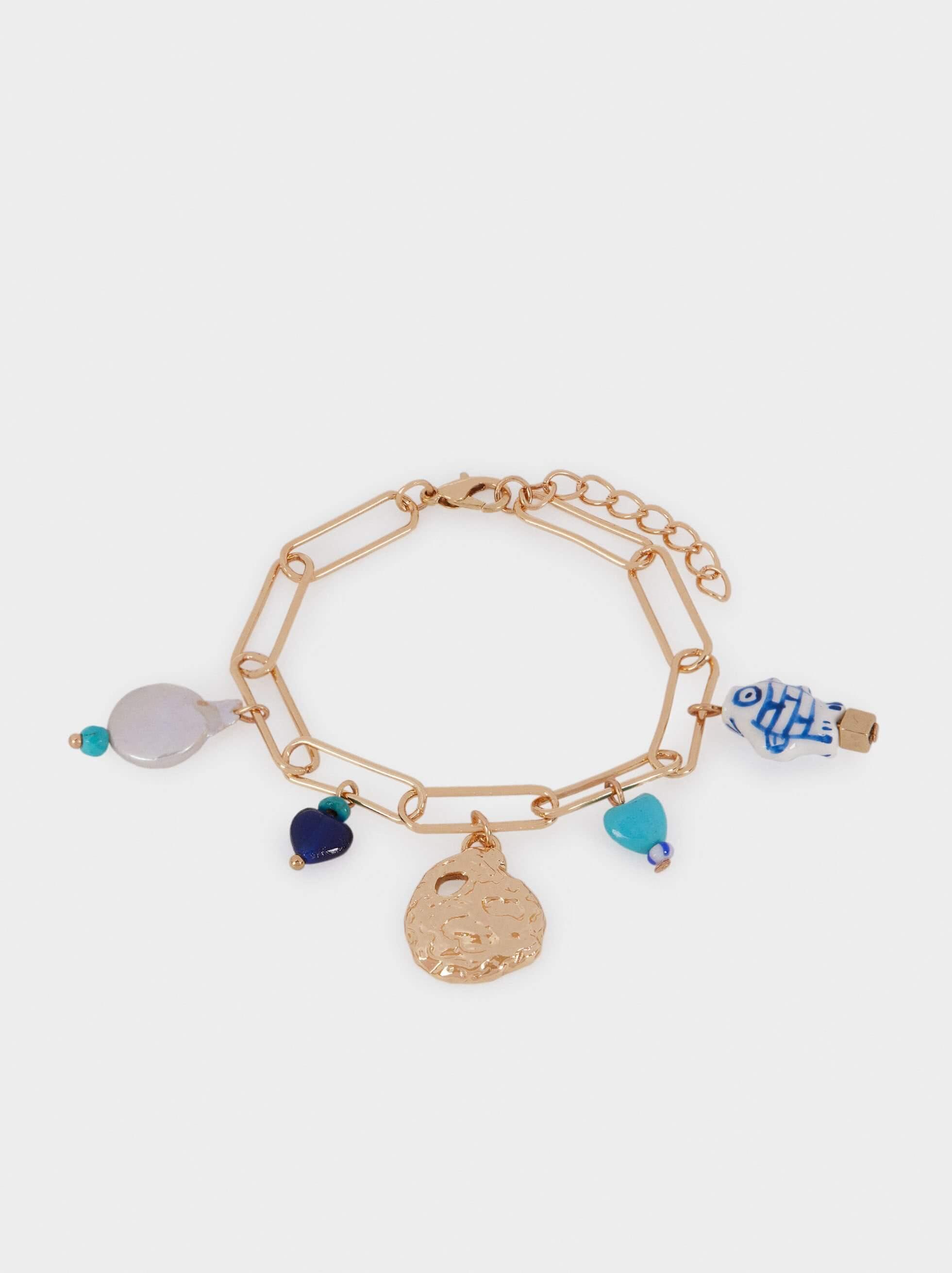 pulseiras de missangas coloridas da Parfois